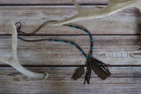 Blueduck's Feather Necklace - Saddles & Lace - New western and southwest inspired clothing, bags, and accessories for women