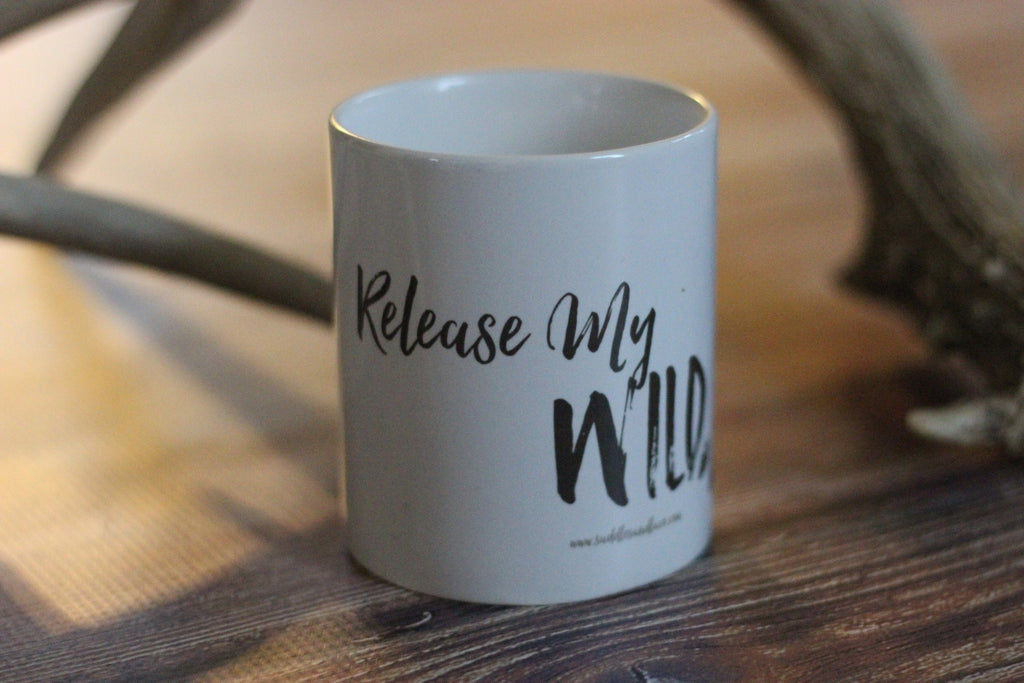 'Release My Wild Soul' Coffee Cup - Saddles & Lace - New western and southwest inspired clothing, bags, and accessories for women