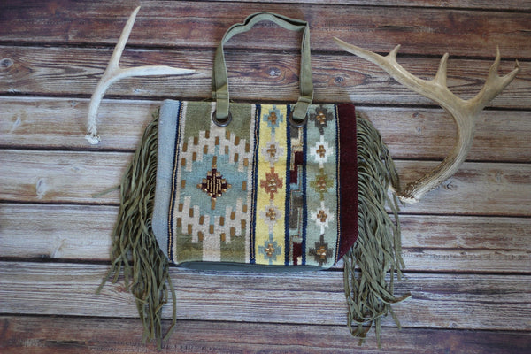 Softer Desert Carpet Purse with Fringe