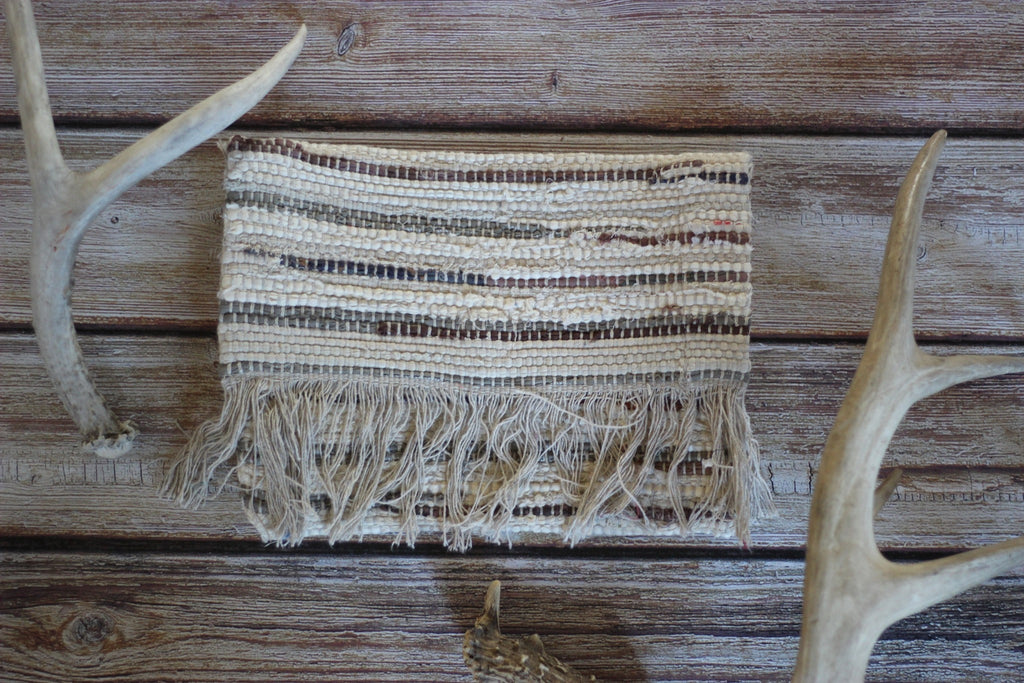 Natural Fringe Trimmed Fold Over Clutch - Saddles & Lace - New western and southwest inspired clothing, bags, and accessories for women