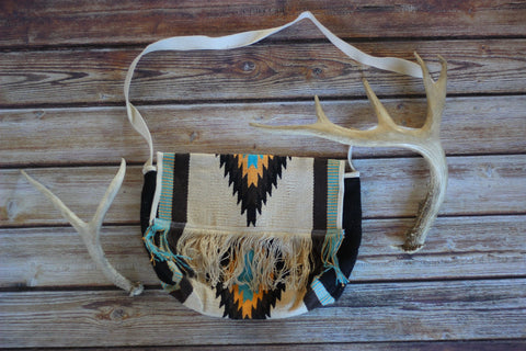 Sun Valley Fringed Carpet Messenger Bag - Saddles & Lace - New western and southwest inspired clothing, bags, and accessories for women