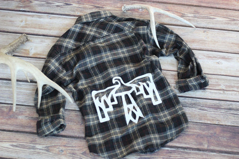Vintage Inpsired Thunderbird Flannel - Saddles & Lace - New western and southwest inspired clothing, bags, and accessories for women