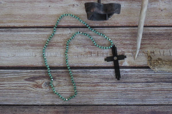 The Old Rugged Cross - Necklace - Saddles & Lace - New western and southwest inspired clothing, bags, and accessories for women