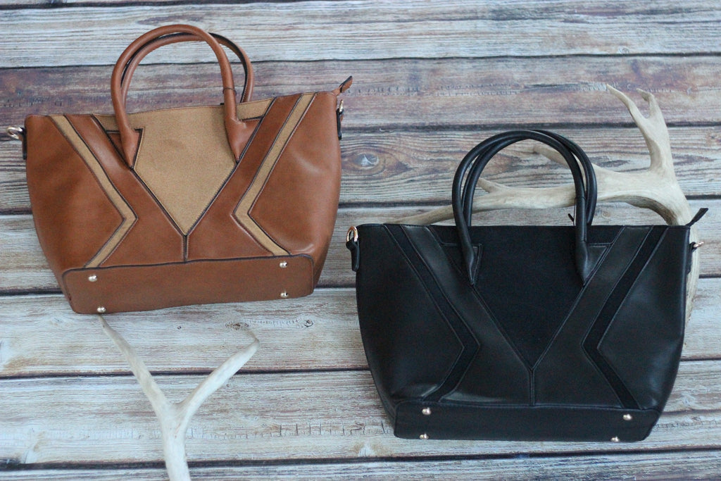 Lori Darling - Vegan Leather & Suede Bag - Saddles & Lace - New western and southwest inspired clothing, bags, and accessories for women