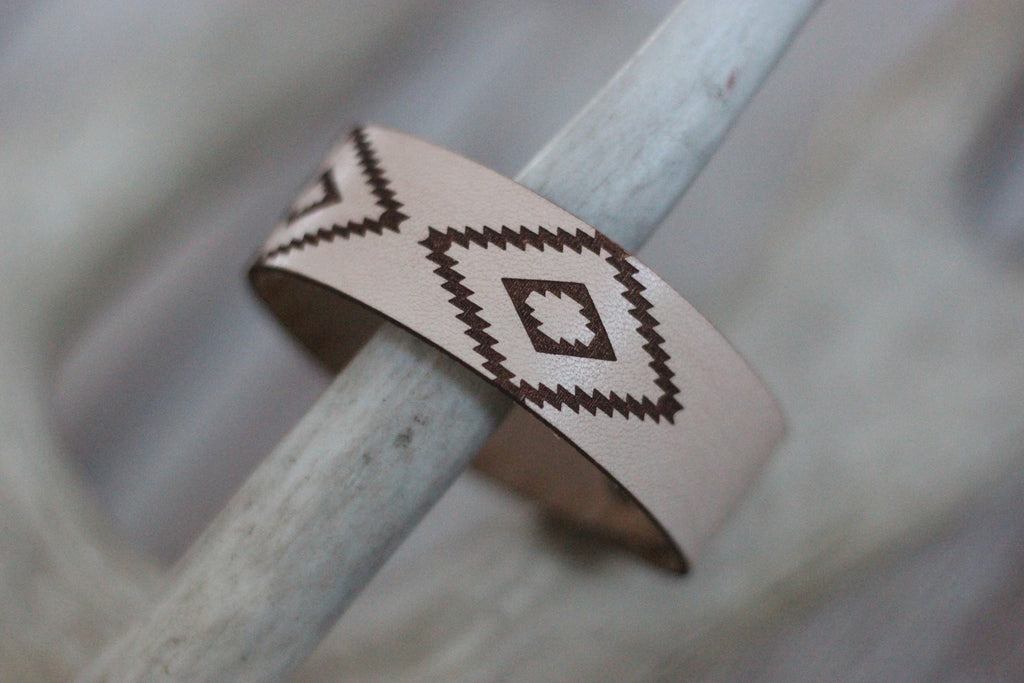 Natural Aztec - Leather Cuff Bracelet - Saddles & Lace - New western and southwest inspired clothing, bags, and accessories for women
