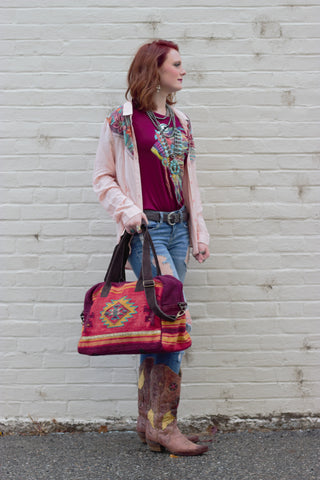 The Sante Fe Medicine Bag / Weekender - Saddles & Lace - New western and southwest inspired clothing, bags, and accessories for women