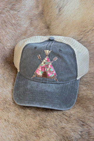 Tepee Wild & Free Ladies Baseball Trucker Hat