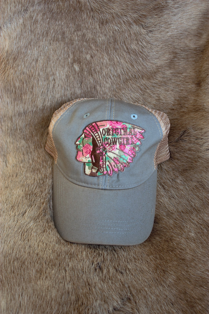 Original Cowgirl Outlaw Ladies Baseball Trucker Hat - Saddles & Lace Boutique - Western and boho inspired clothing, bags, and accessories for women