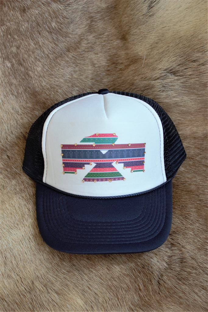 'Thunderbird' Ladies Trucker Hat - Saddles & Lace Boutique - Western and boho inspired clothing, bags, and accessories for women