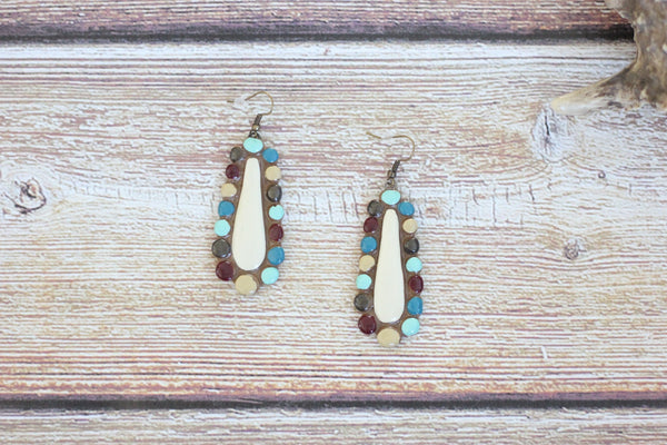 Indian Corn Drop - Clay Earrings - Saddles & Lace Boutique - Western and boho inspired clothing, bags, and accessories for women