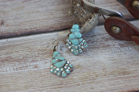 The Turquoise Candelabrum - Clay Earrings - Saddles & Lace Boutique - Western and boho inspired clothing, bags, and accessories for women