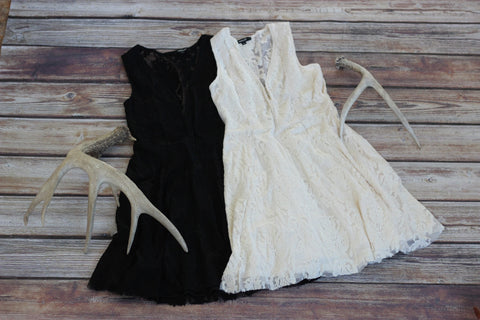 Freely Laced - Ivory Lace Dress
