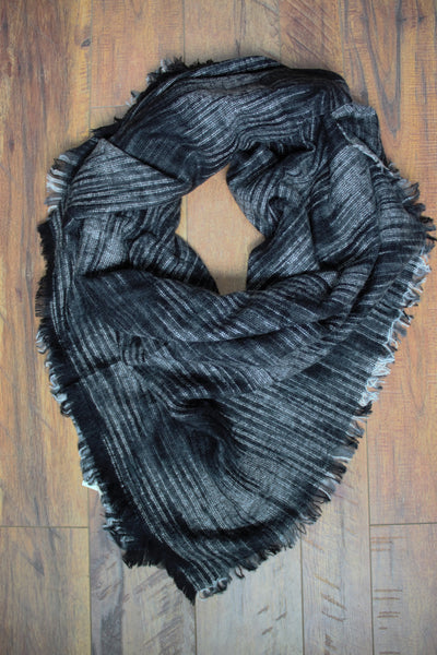 Orchard Prairie Blanket Scarf - Black - Saddles & Lace Boutique - Western and boho inspired clothing, bags, and accessories for women
