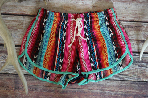 Mexican Sunshine Shorts - Saddles & Lace - New western and southwest inspired clothing, bags, and accessories for women