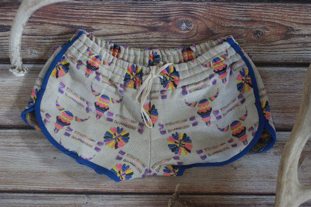 By The Horns Jaquard Track Shorts - Saddles & Lace Boutique - Western and boho inspired clothing, bags, and accessories for women