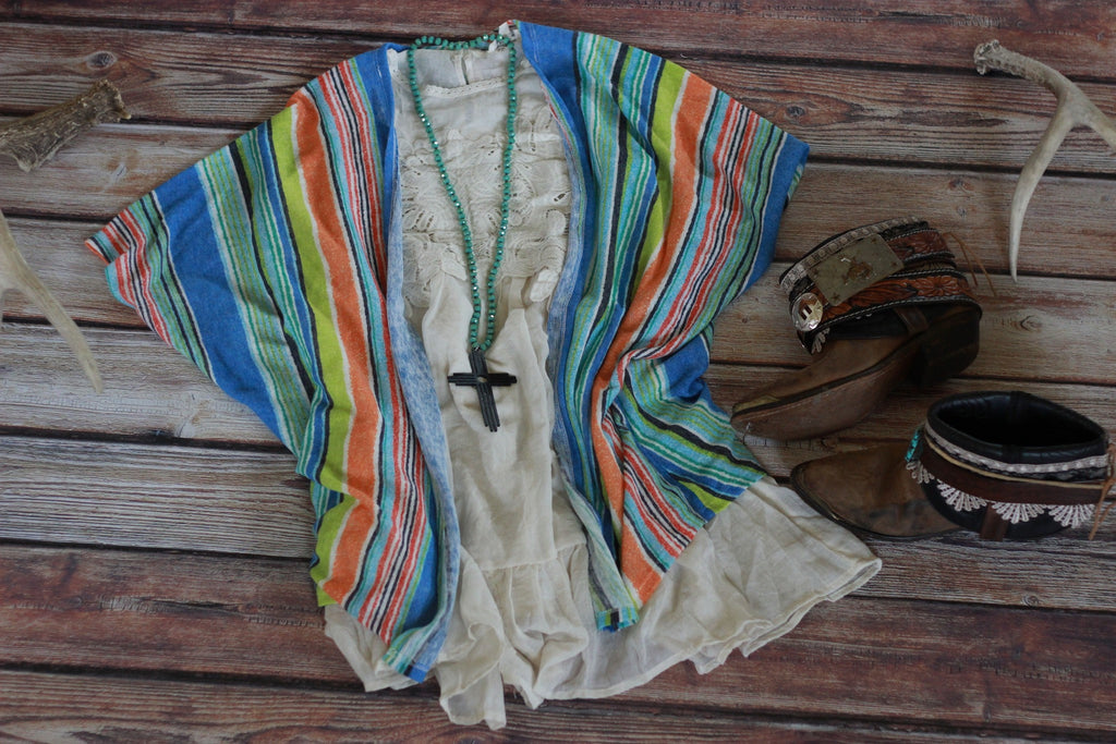 Serape Print Cardigan - Saddles & Lace - New western and southwest inspired clothing, bags, and accessories for women