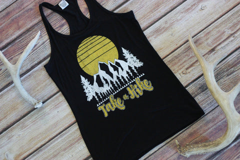 Take A Hike Racerback Graphic Tank