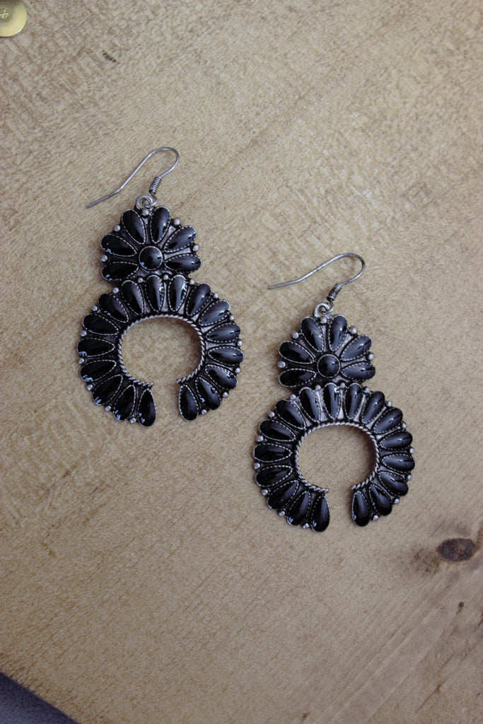 Black Naja Earrings