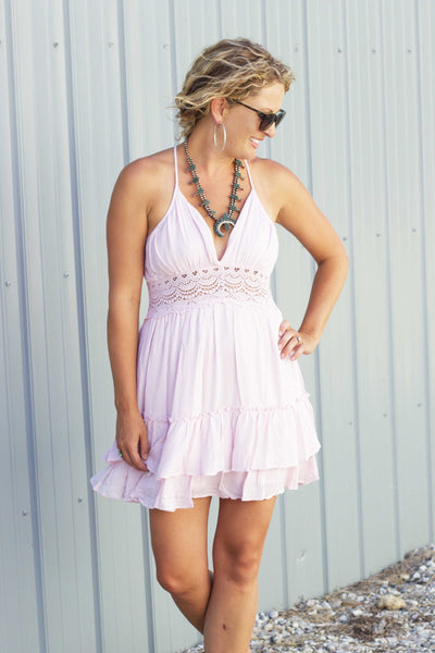 The Baby Blues Dress -In Blush