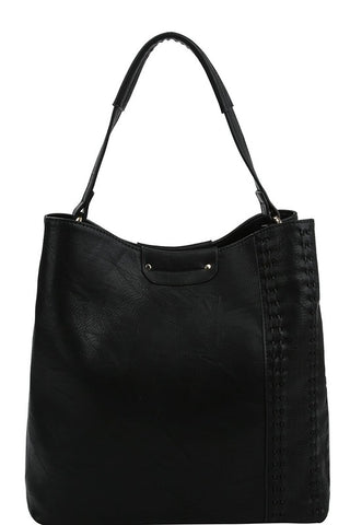 Black Large Tote Bag - Saddles & Lace Boutique - Western and boho inspired clothing, bags, and accessories for women