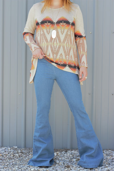 The Classic Bell - Light Wash Bell Bottoms - Saddles & Lace Boutique - Western and boho inspired clothing, bags, and accessories for women