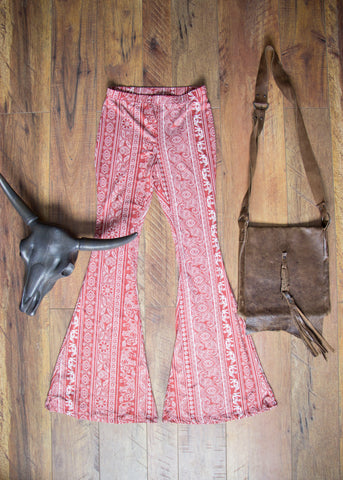 'The Dolly' Boho Marsala Palazzo Bell Pants