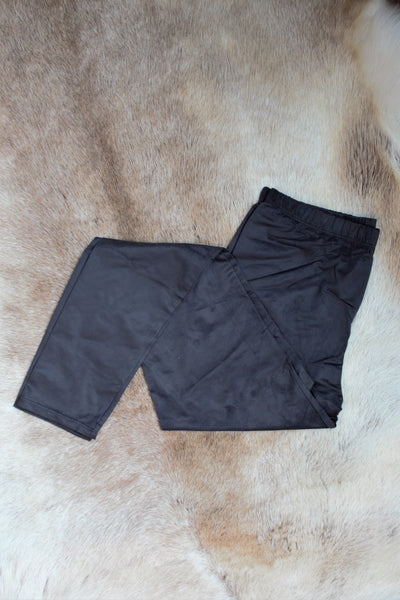 Faux Suede Leggings - Black - Saddles & Lace - New western and southwest inspired clothing, bags, and accessories for women