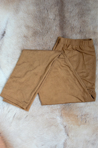 Faux Suede Leggings - Buckskin - Saddles & Lace Boutique - Western and boho inspired clothing, bags, and accessories for women