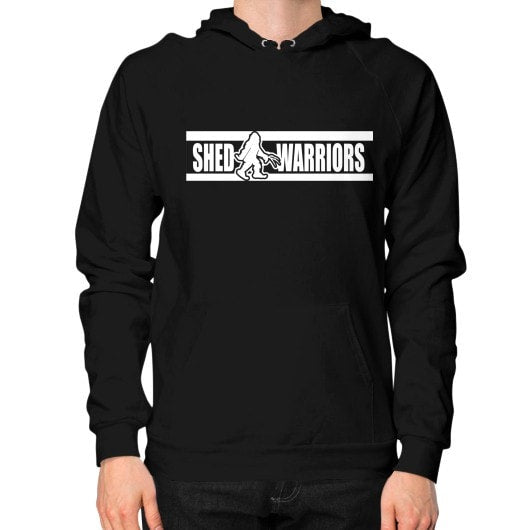 Hoodie (on man) Black Saddles & Lace