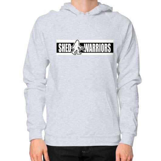 Hoodie (on man) Heather grey Saddles & Lace