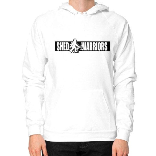 Hoodie (on man) White Saddles & Lace