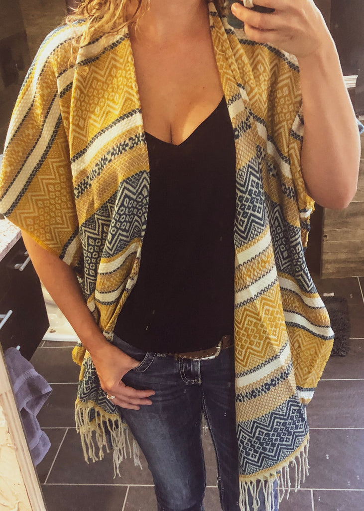 Painted Prairie Boho Kimono - Saddles & Lace Boutique - Western and boho inspired clothing, bags, and accessories for women