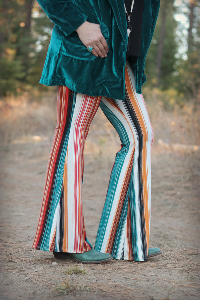 Striped Out West -  Bell Bottoms