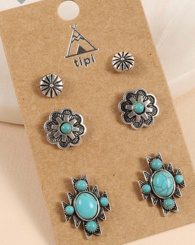 Santa Fe - Earring Set - Saddles & Lace Boutique - Western and boho inspired clothing, bags, and accessories for women