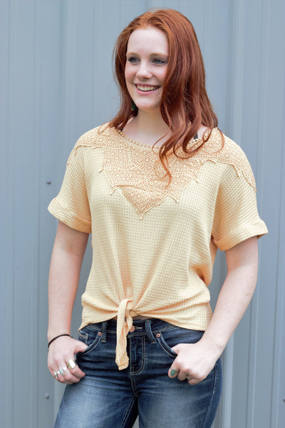 Peach Beach Knit Blouse