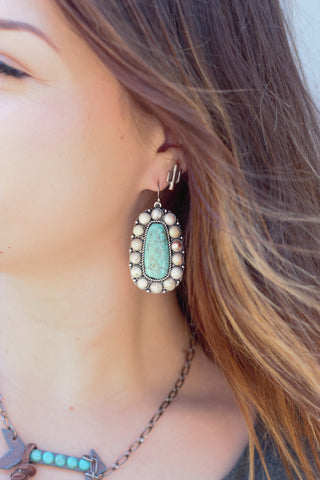 Turquoise Rain - Earrings - Saddles & Lace Boutique - Western and boho inspired clothing, bags, and accessories for women