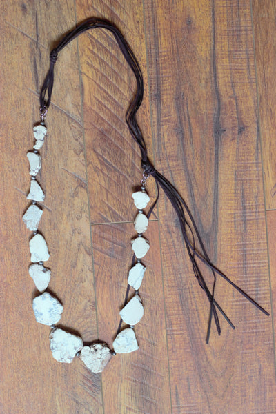 Buffalo Turquoise Slab Necklace - Saddles & Lace Boutique - Western and boho inspired clothing, bags, and accessories for women