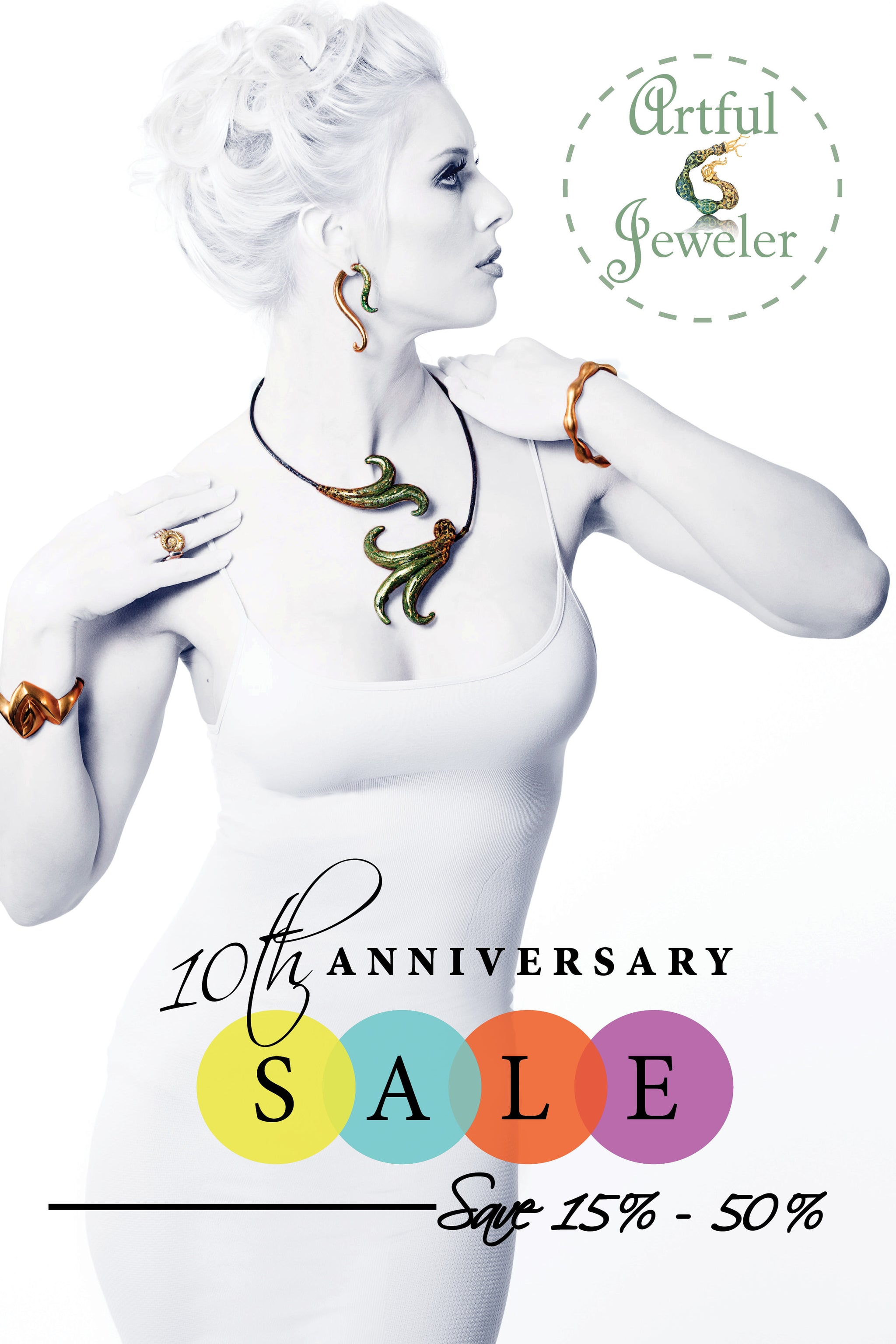 10 Year Anniversary! Select Jewelry Now on Sale Save 15% - 50%.