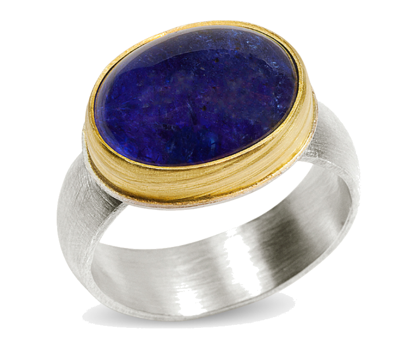 Save 40% on Tanzanite, 22k Gold and Silver Ring by Nancy Troske!