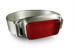 Red Traffic Light Cuff Bracelet by Amy Faust