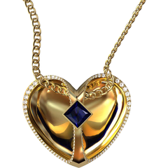 Floating Heart Pendant by Greg Neeley