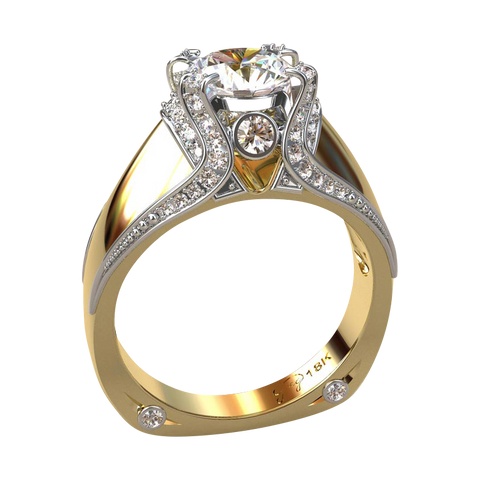The ultimate Italian Gold and Diamond Engagement Ring