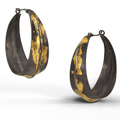 Keum-Boo Hoop Earrings by Shauna Blythe Burke