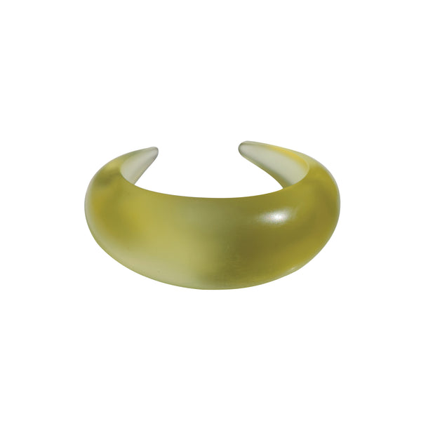 Clear Water Chartreuse Resin Cuff Bracelet
