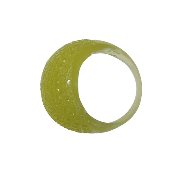 Faceted Ring Green