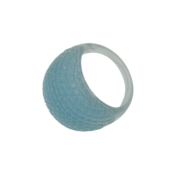 Faceted Ring Light Blue