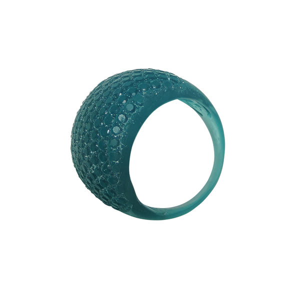 Faceted Ring Teal
