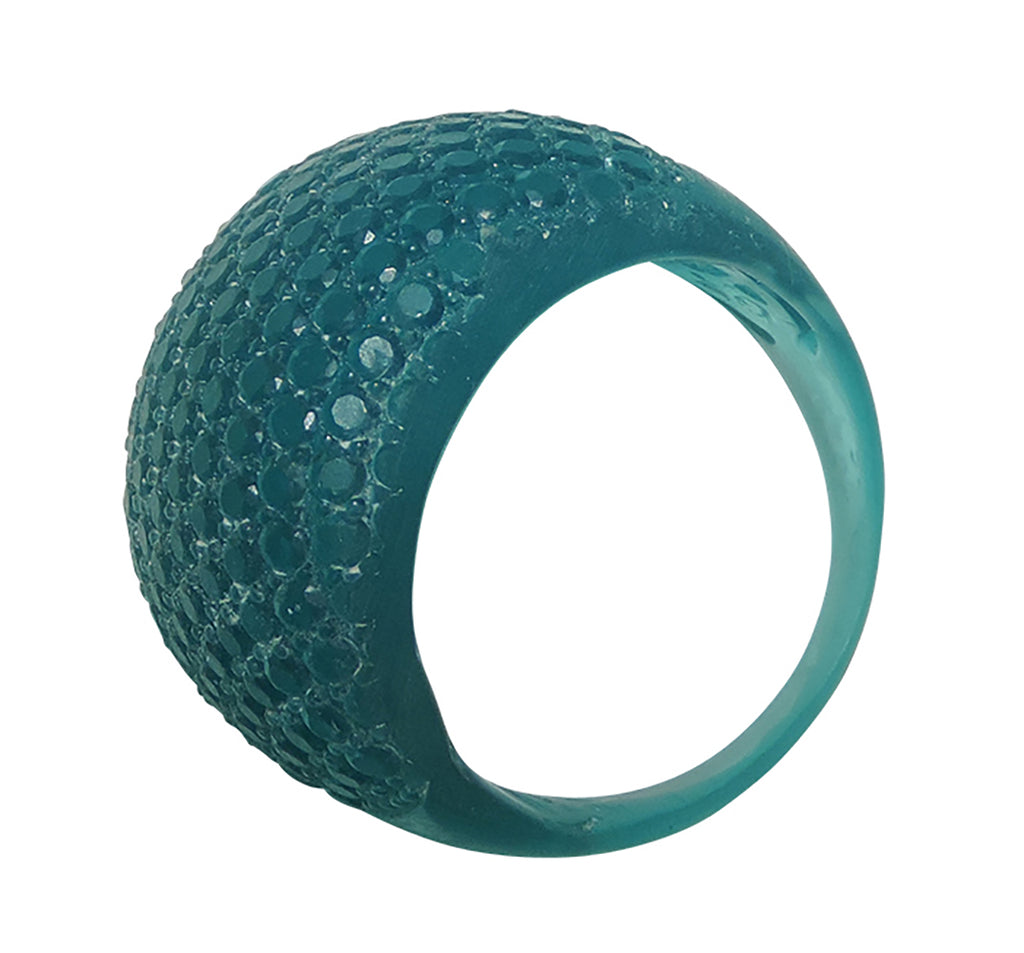 Faceted Ring Blue
