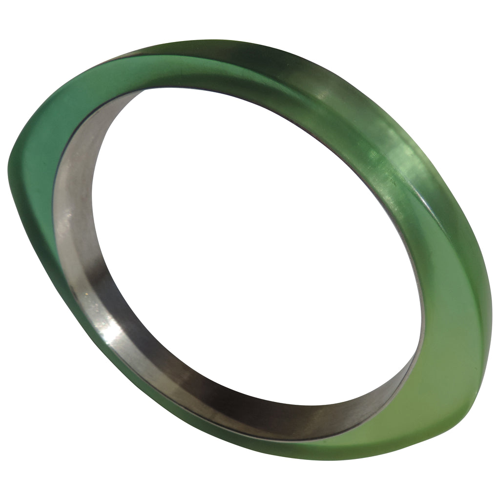PLASTIC Chic Oh Bangle! Fine Silver and Resin-Artful Jeweler