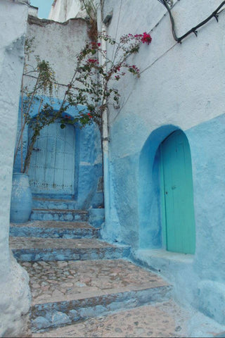 doors are beautiful, and this shade of turquoise is stunning. City of chefchaouen in Morocco
